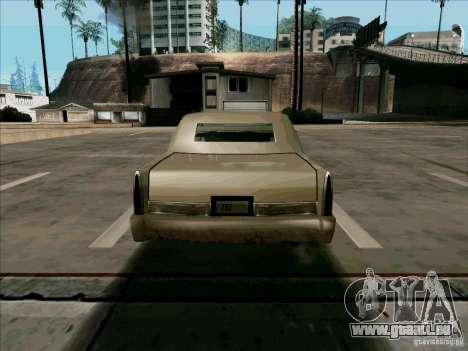 Une Limousine courte pour GTA San Andreas vue de droite
