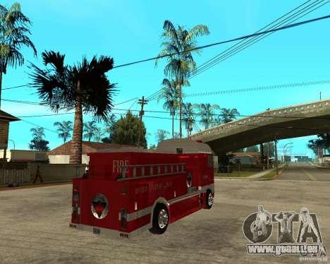 DAF XF 530 incendie pour GTA San Andreas sur la vue arrière gauche