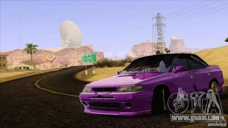 Subaru Legacy Drift Union für GTA San Andreas obere Ansicht