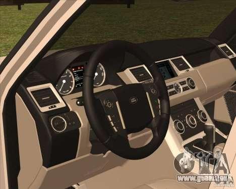 Range Rover Sport 2012 für GTA San Andreas Rückansicht