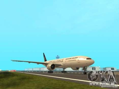 Boeing 777-200 Singapore Airlines pour GTA San Andreas laissé vue