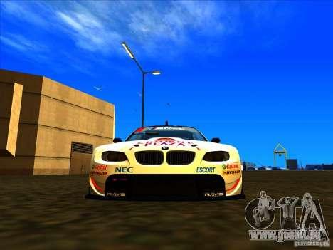 BMW M3 GT ALMS GT2 Series für GTA San Andreas zurück linke Ansicht