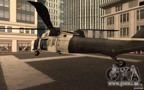 Black Hawk from BO2 für GTA San Andreas zurück linke Ansicht