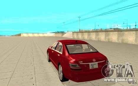 Mercedes-Benz S600 pour GTA San Andreas sur la vue arrière gauche