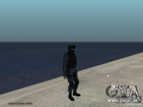 Agent de POLICE d'émeute pour GTA San Andreas huitième écran