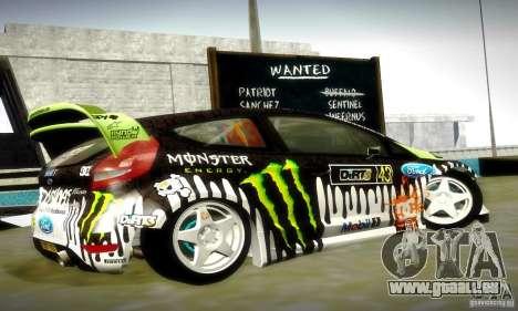 Ford Fiesta Gymkhana 4 für GTA San Andreas obere Ansicht
