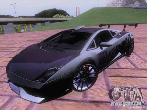 Lamborghini Gallardo Racing Street pour GTA San Andreas vue de dessous