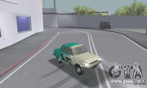 ZAZ 968 m en lambeaux pour GTA San Andreas vue intérieure