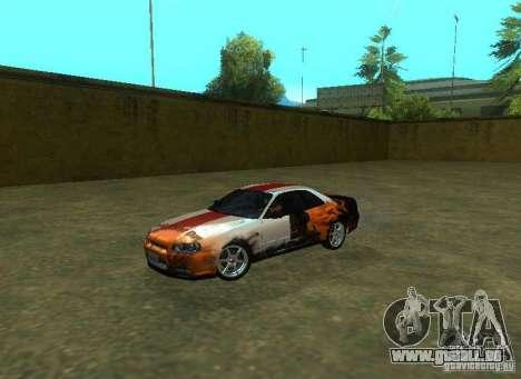 Nissan Skyline GTR-34 pour GTA San Andreas moteur
