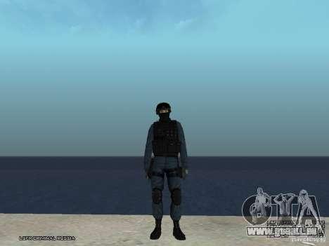 Agent de POLICE d'émeute pour GTA San Andreas troisième écran
