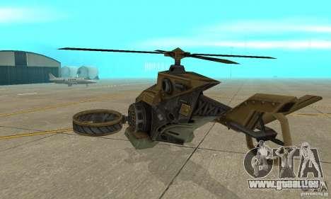 Un hélicoptère de la jeu Brown de TimeShift pour GTA San Andreas vue de droite