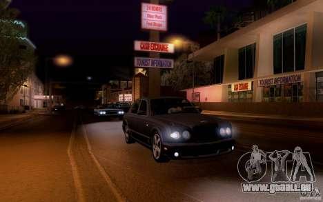 Bentley Arnage pour GTA San Andreas vue de dessus