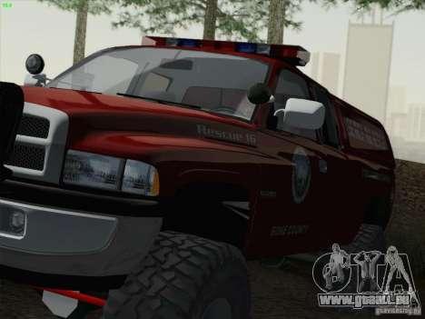 Dodge Ram 3500 Search & Rescue pour GTA San Andreas vue de droite