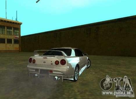 Nissan Skyline GTR-34 für GTA San Andreas Innenansicht