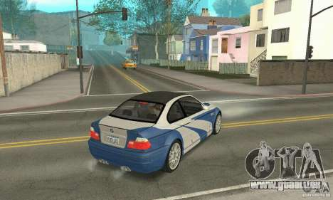 BMW M3 Tunable pour GTA San Andreas vue de côté