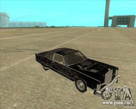 Lincoln Continental Town Coupe 1979 pour GTA San Andreas vue arrière