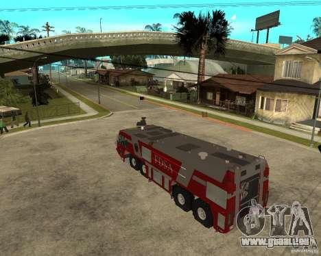 Rosenbauer Simba 8x8 GFLF FDSA pour GTA San Andreas laissé vue