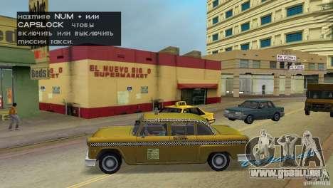 Cabbie HD für GTA Vice City linke Ansicht