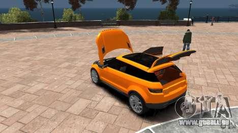 Range Rover LRX 2010 pour GTA 4 est une vue de l'intérieur
