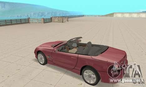 Mercedes-Benz SL500 (R230) pour GTA San Andreas vue arrière