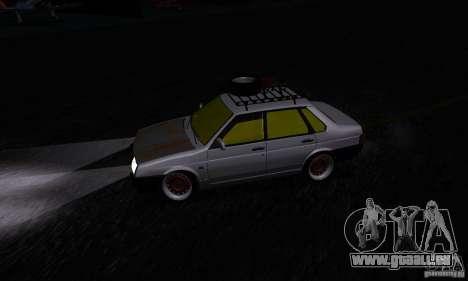 Look Rat 21099 VAZ pour GTA San Andreas vue arrière