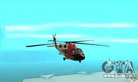 HH-60 Jayhawk USCG pour GTA San Andreas vue intérieure