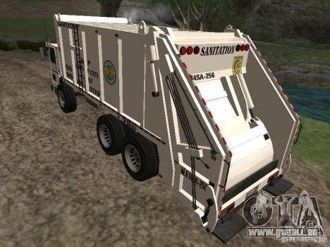 Camion à ordures de GTA 4 pour GTA San Andreas laissé vue