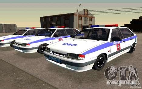 Vaz 2114 PSB Police pour GTA San Andreas