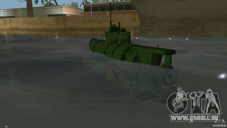 Seehund Midget Submarine skin 1 pour GTA Vice City sur la vue arrière gauche
