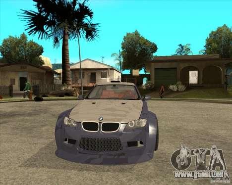 BMW M3 E92 TUNED pour GTA San Andreas vue arrière