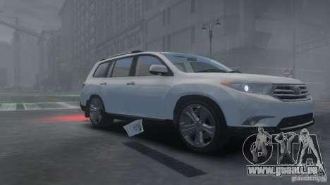 Toyota Highlander 2012 v2.0 pour GTA 4 est une gauche