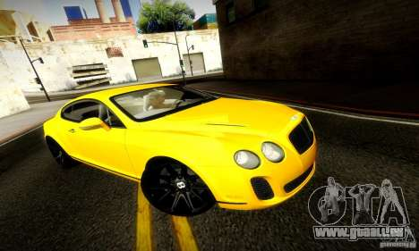 Bentley Continental Supersports für GTA San Andreas Innenansicht