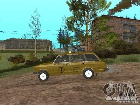 VAZ 2104 Taxi pour GTA San Andreas sur la vue arrière gauche