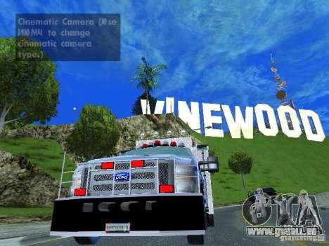 Ford F350 REP Truck pour GTA San Andreas sur la vue arrière gauche