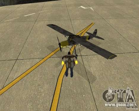 Transport aérien Pak pour GTA San Andreas vue de droite