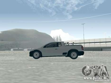 Volkswagen Saveiro 1.6 2009 pour GTA San Andreas sur la vue arrière gauche