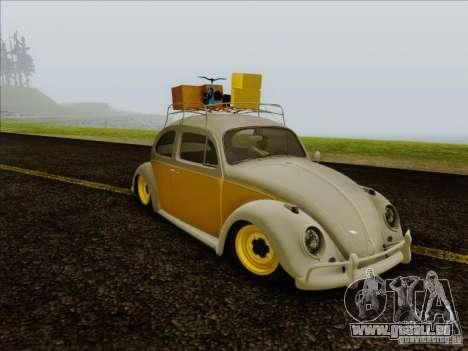 Volkswagen Beetle Edit pour GTA San Andreas sur la vue arrière gauche