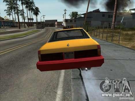 Sentinel Taxi pour GTA San Andreas vue de droite