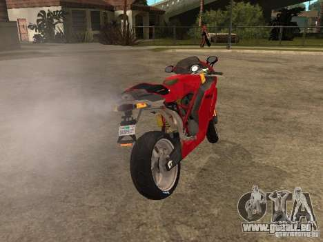 Ducati 999s pour GTA San Andreas sur la vue arrière gauche