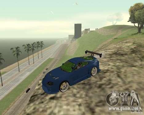 Toyota Supra TwinTurbo pour GTA San Andreas vue de dessus