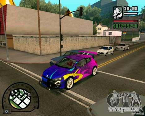 Volswagen Scirocco pour GTA San Andreas laissé vue