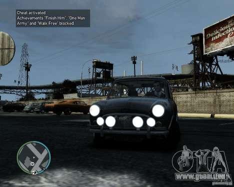 Austin Mini Cooper S für GTA 4 linke Ansicht
