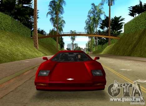 Infernus BETA für GTA Vice City Rückansicht