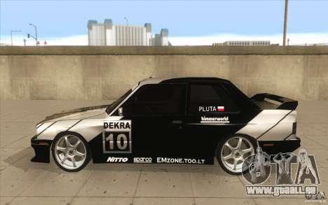 BMW E30 M3 - Coupe Explosive pour GTA San Andreas laissé vue