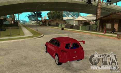 Alfa Romeo 147 pour GTA San Andreas sur la vue arrière gauche