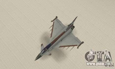 EF-2000 Typhoon V1.3 pour GTA San Andreas vue de côté