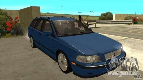 Volvo V40 - Stock pour GTA San Andreas vue arrière