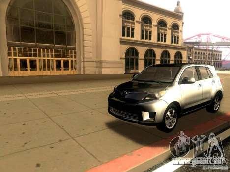 Scion xD pour GTA San Andreas sur la vue arrière gauche