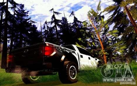 Ford Raptor Crewcab 2012 für GTA San Andreas rechten Ansicht