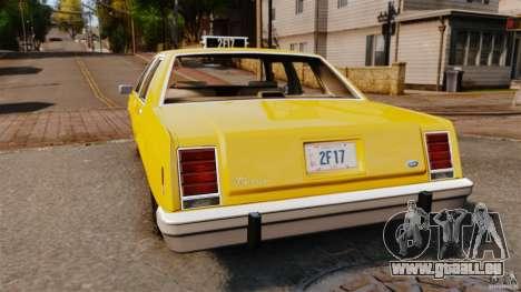 Ford LTD Crown Victoria 1987 L.C.C. Taxi pour GTA 4 Vue arrière de la gauche